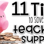 teachers how to save money