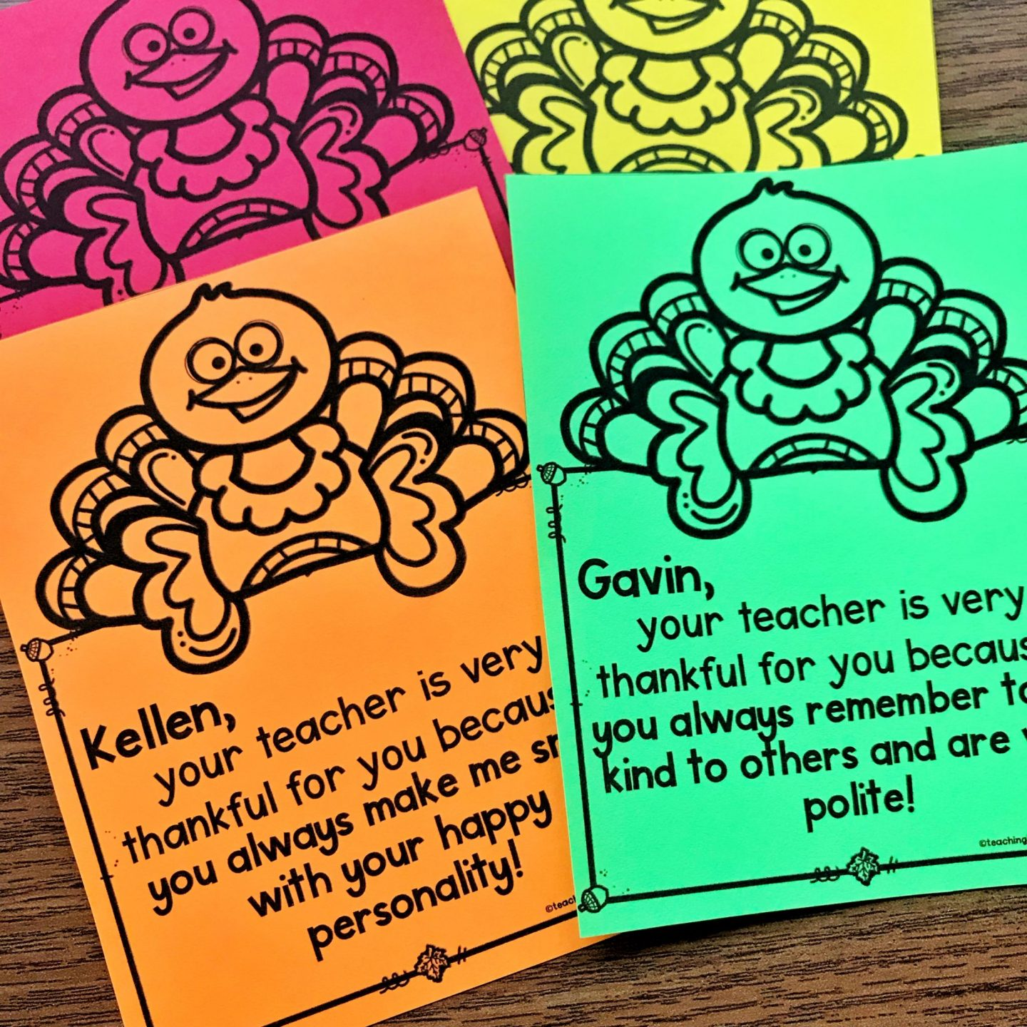 Free Thankful Teacher Notes