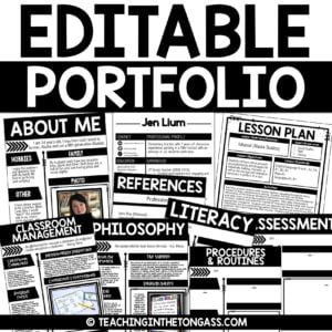 editable teacher portfolio