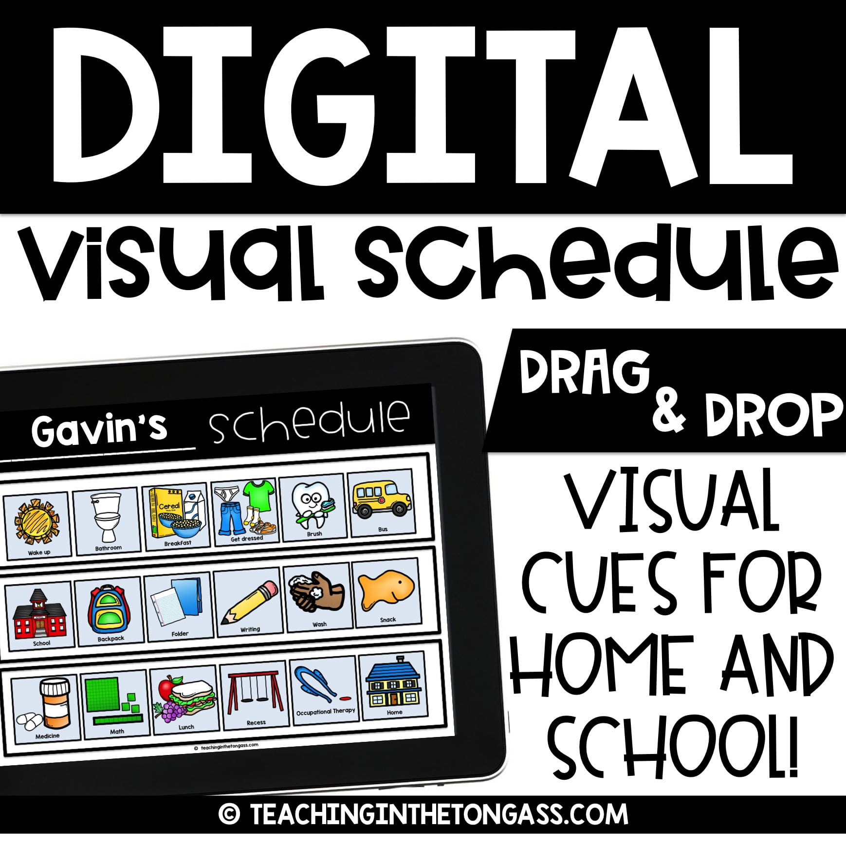 photograph regarding Printable Visual Schedule Pictures known as Electronic and Printable Visible Routine