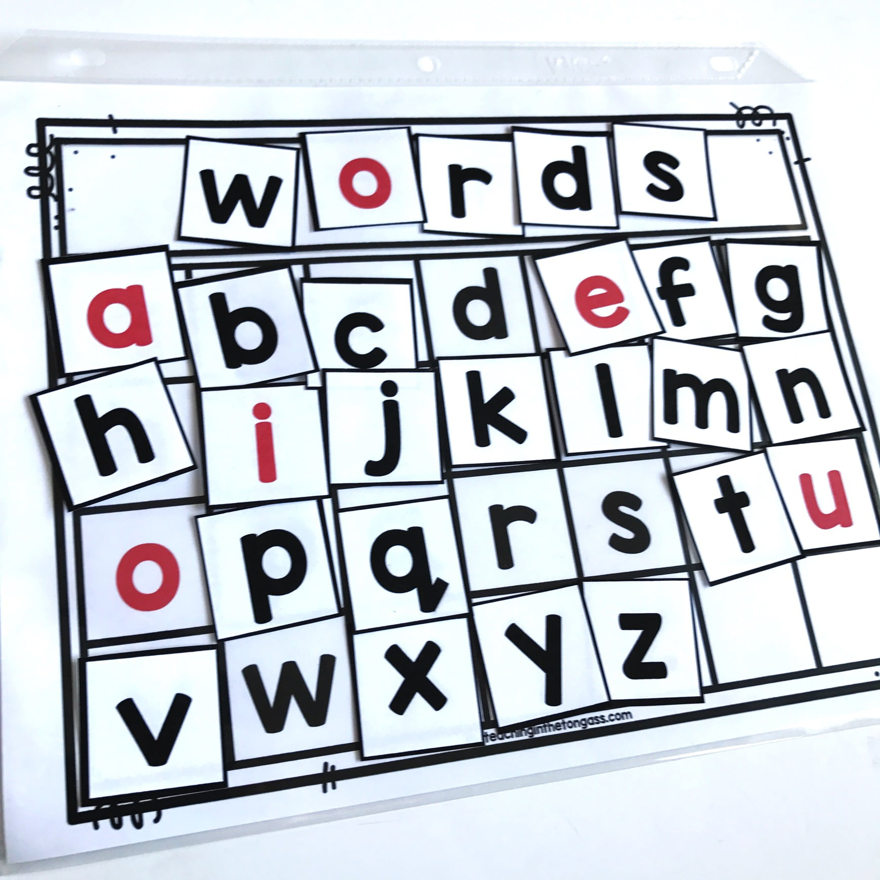 Printable Letter Tiles And Word Work Mat Teaching In The Tongass