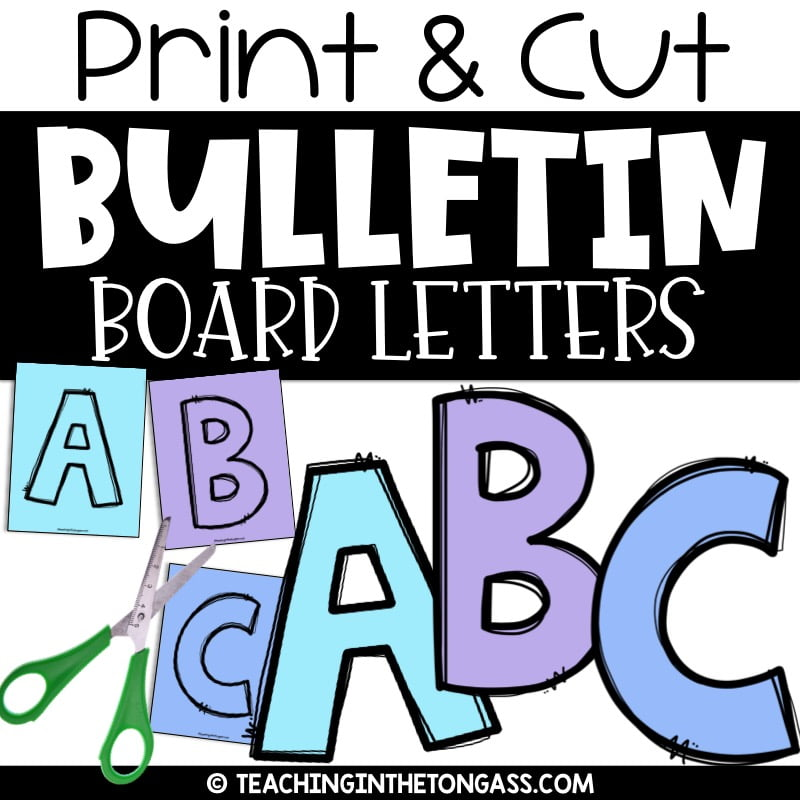 Clean image regarding printable cut out letters for bulletin boards