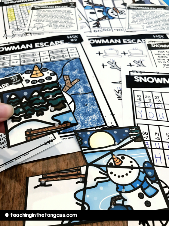 winter escape room for kids