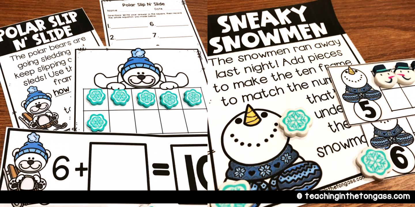 winter math ideas for kids