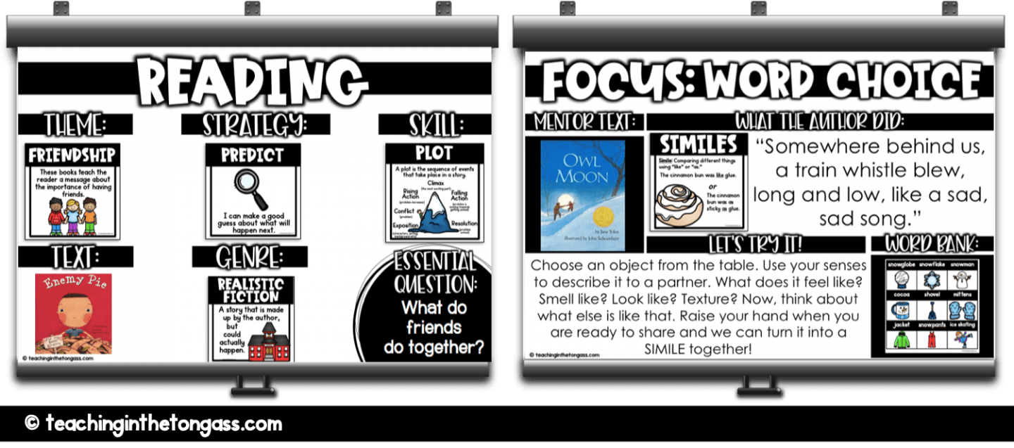 writing and reading focus walls