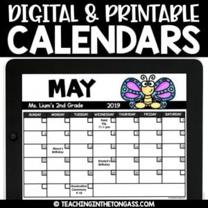 digital monthly calendar