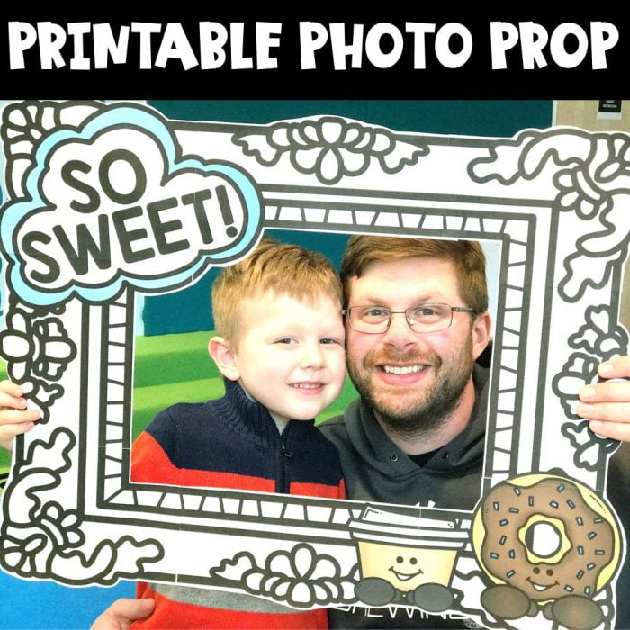 Donuts with Dads Photo Prop